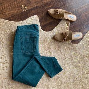 Eddie Bauer Slightly Curvy Skinny Jeans in Green